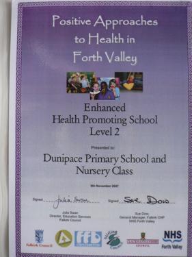 Dunipace Primary School - Health Promoting School